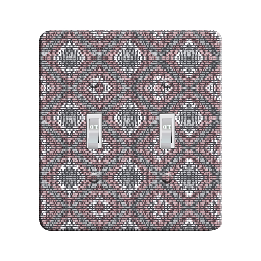 Embossi Printed Maxi Metal Cool Tribal Chevron  Plate - Light Switch / Outlet Cover Custom Plate Choose Style, 0485L