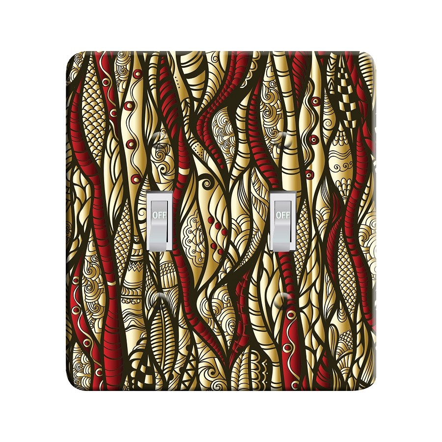 Embossi Printed Ancient Totem - Light Switch / Outlet Cover Custom Plate Choose Style, 01 D