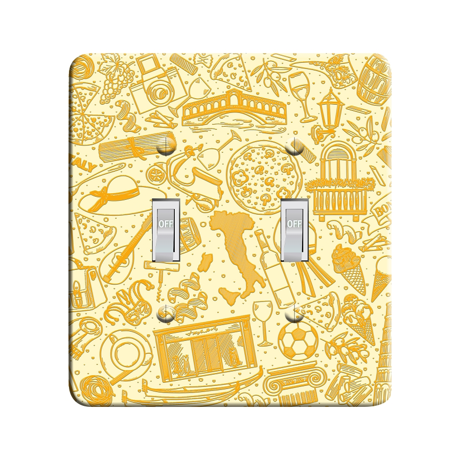 Embossi Printed  Florence Italy Travel - Light Switch / Outlet Cover Custom Plate Choose Style, 108 DA