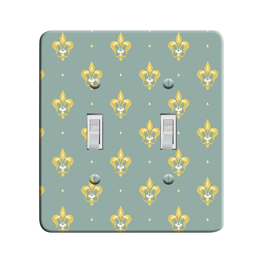 Embossi Printed  Florence Medici Fleur dis Lis - Light Switch / Outlet Cover Custom Plate Choose Style, 108 DB