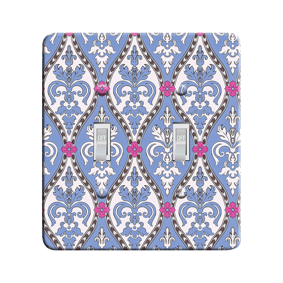 Embossi Printed  Pisa Brocade - Light Switch / Outlet Cover Custom Plate Choose Style, 109 DA