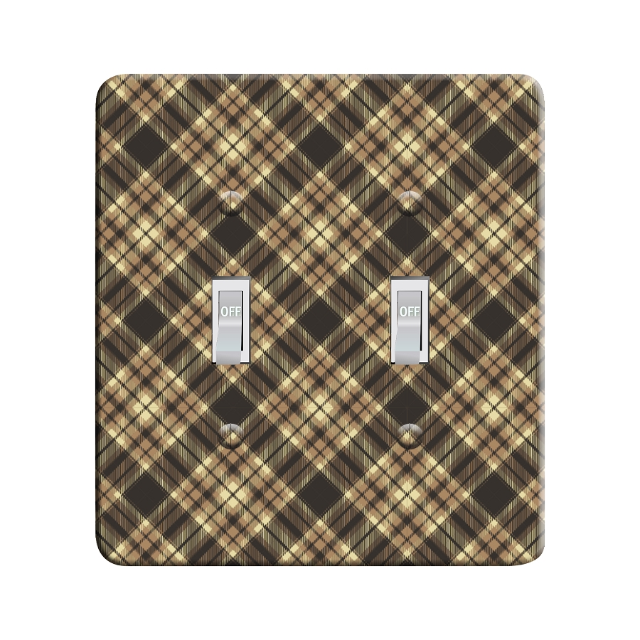 Embossi Printed  Bierstadt Sierra Plaid- Light Switch / Outlet Cover Custom Plate Choose Style, 115 DA