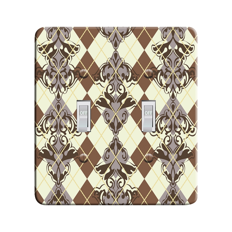 Embossi Printed  Bierstadt Sierra Argyle - Light Switch / Outlet Cover Custom Plate Choose Style, 115 DB
