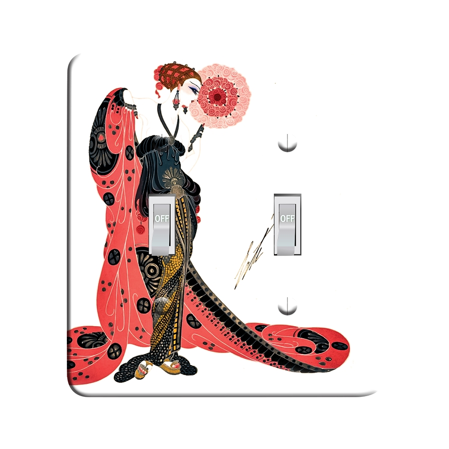 Embossi Printed  Erte Aphrodite - Light Switch / Outlet Cover Custom Plate Choose Style, 116 D