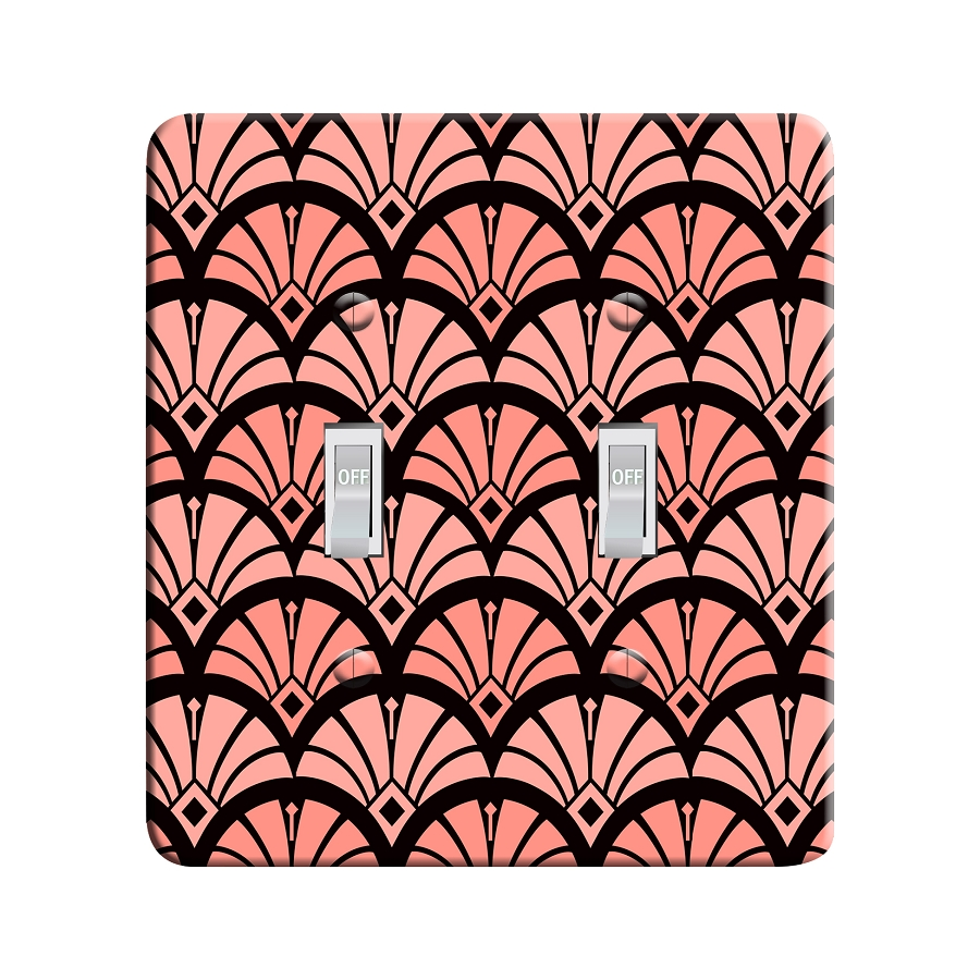 Embossi Printed  Aphrodite Art Deco Pattern- Light Switch / Outlet Cover Custom Plate Choose Style, 116 DA