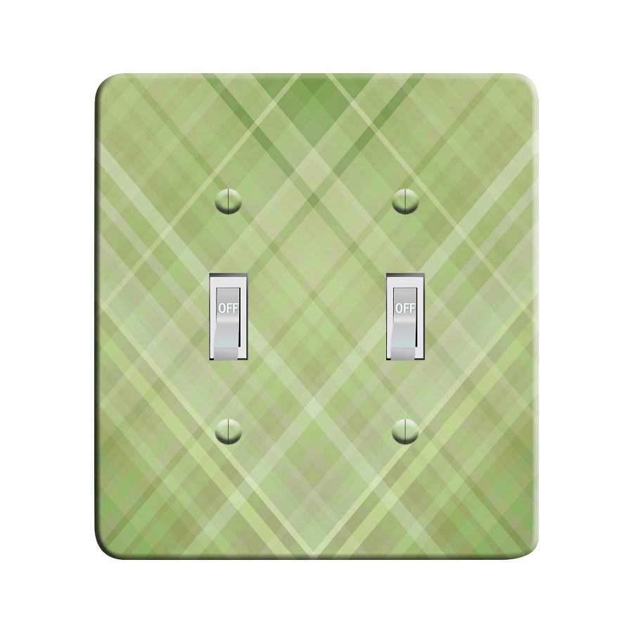 Embossi Printed Maxi Metal Sunflower Plaid Plate - Light Switch / Outlet Cover Custom Plate Choose Style, 0012 DA