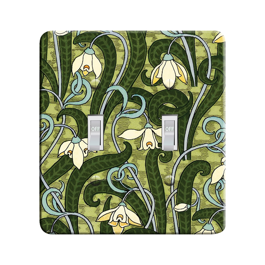 Embossi Printed Grasset Snowdrop - Light Switch / Outlet Cover Custom Plate Choose Style, 19 D
