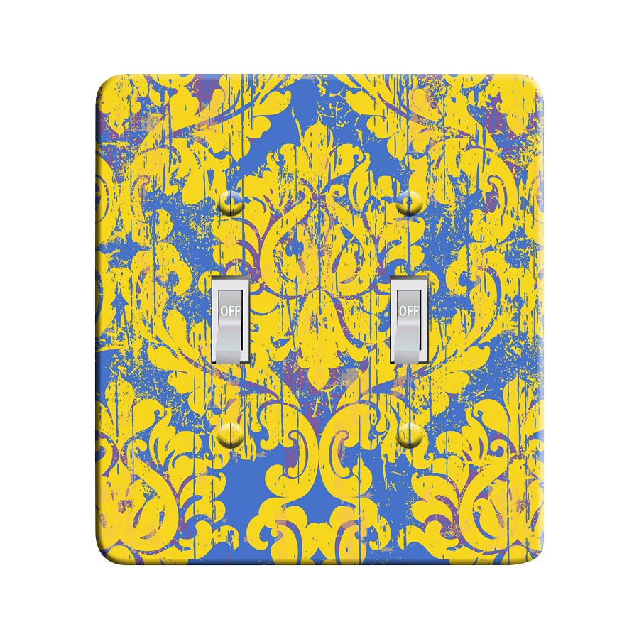 Embossi Printed Maxi Metal Monet Retro Damask Plate - Light Switch / Outlet Cover Custom Plate Choose Style, 0021 DA