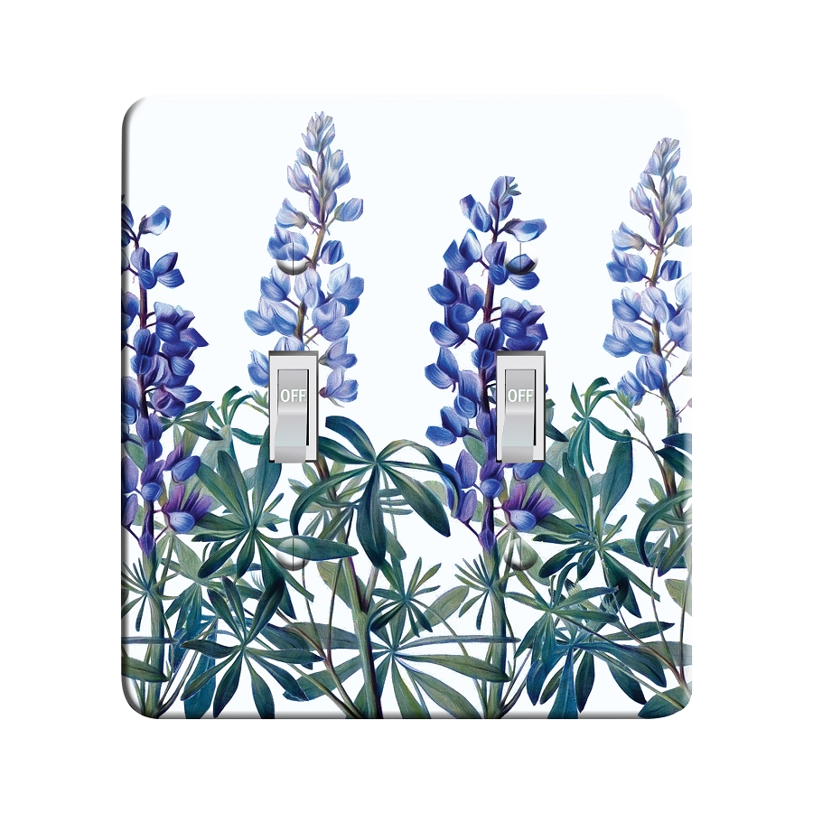 Embossi Printed Maxi Metal Lupine Plate - Light Switch / Outlet Cover Custom Plate Choose Style, 0268 L