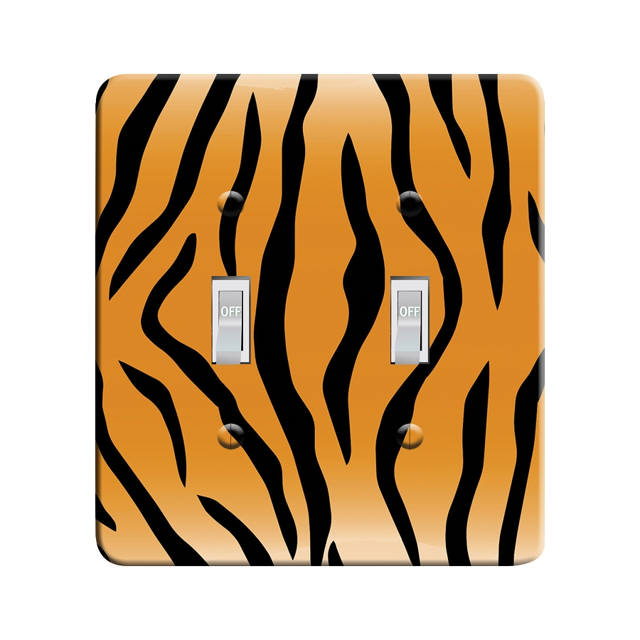 Embossi Printed Tiger - Light Switch / Outlet Cover Custom Plate Choose Style, 29 D