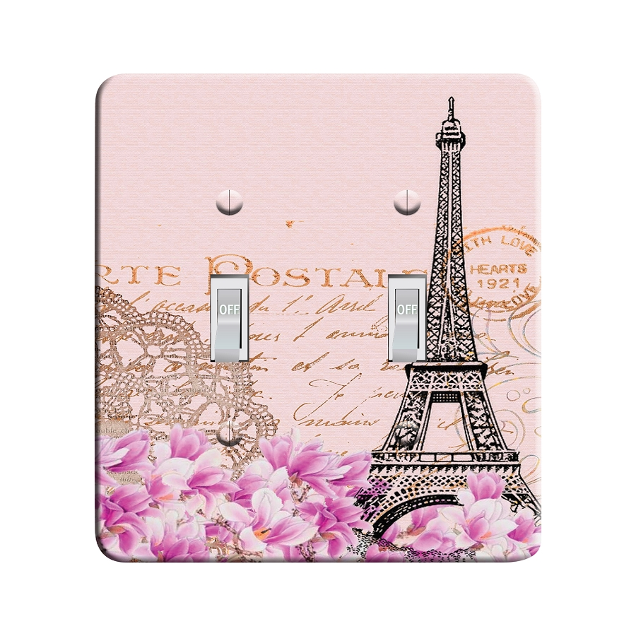 Embossi Printed Paris Eiffel Tower - Light Switch / Outlet Cover Custom Plate Choose Style, 30 D