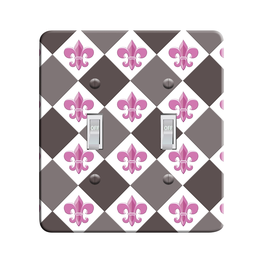 Embossi Printed Paris Fleur de Lis - Light Switch / Outlet Cover Custom Plate Choose Style, 30 DC