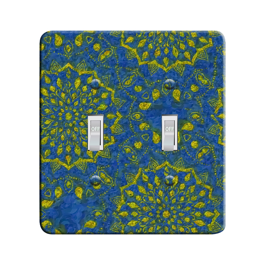 Embossi Printed Starry Mandala - Light Switch / Outlet Cover Custom Plate Choose Style, 41 DC
