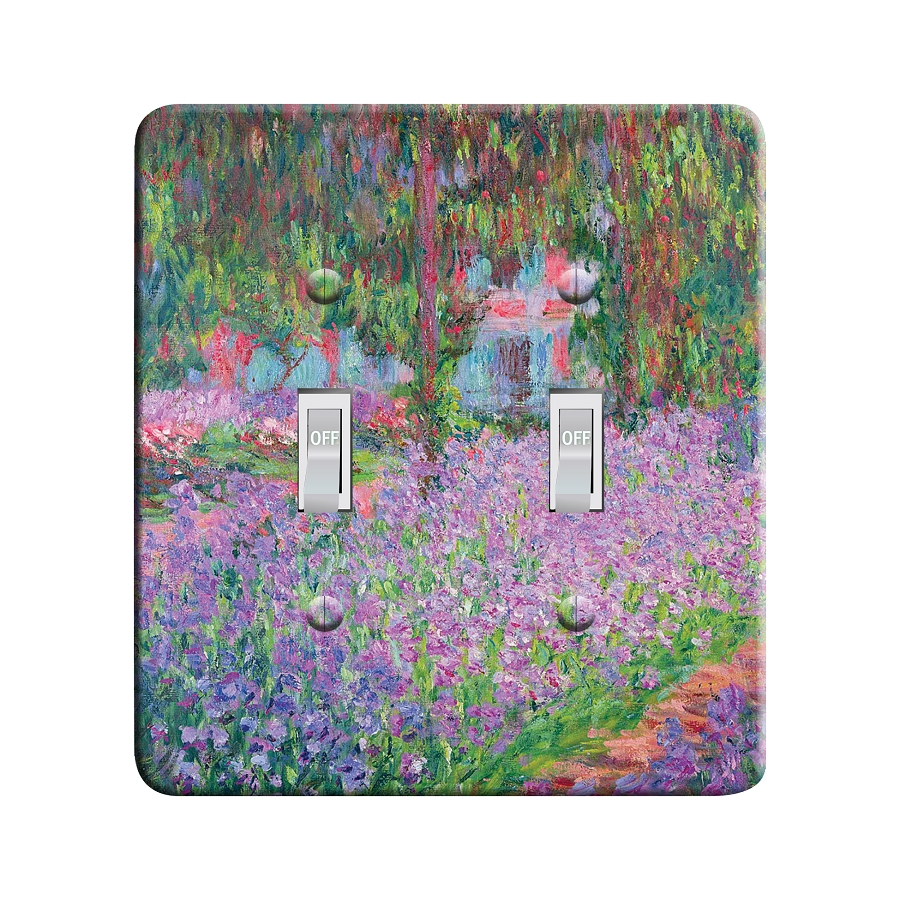 Embossi Printed Monet Garden- Light Switch / Outlet Cover Custom Plate Choose Style, 42 D