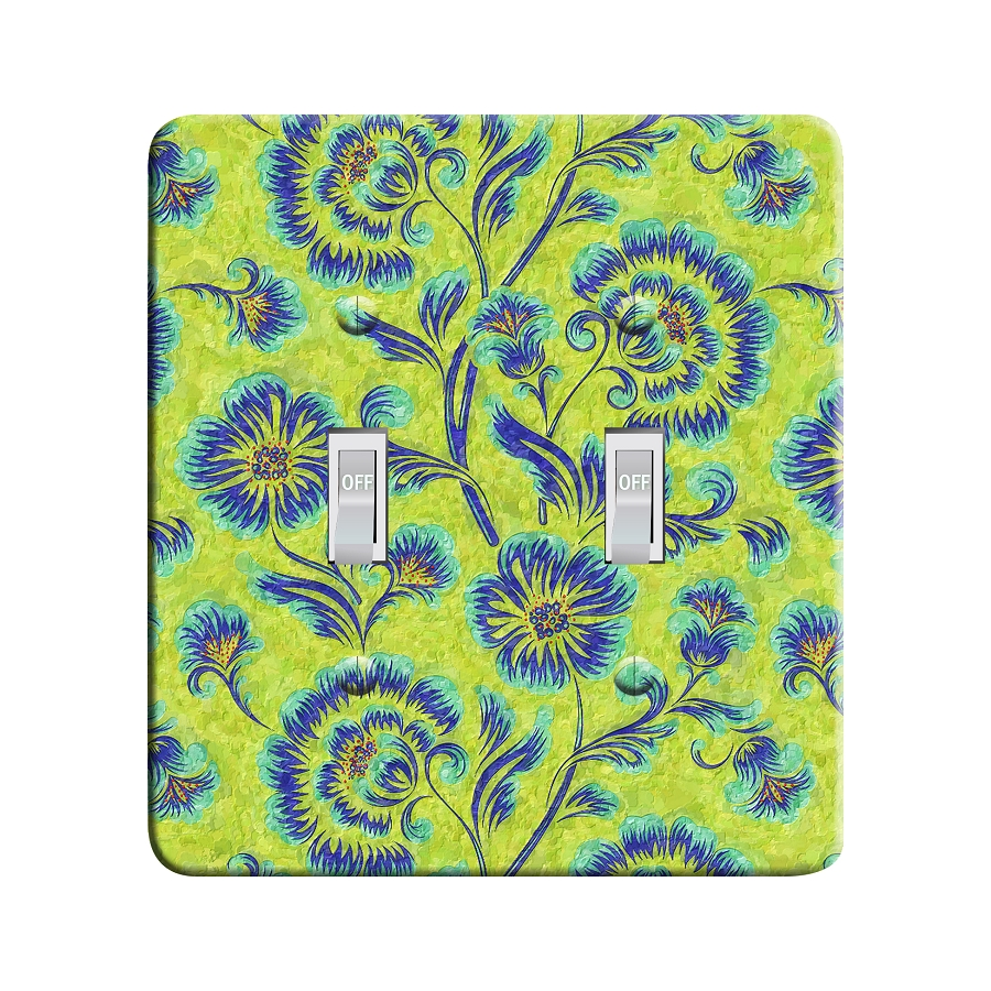 Embossi Printed Monet Floral - Light Switch / Outlet Cover Custom Plate Choose Style, 42 DA