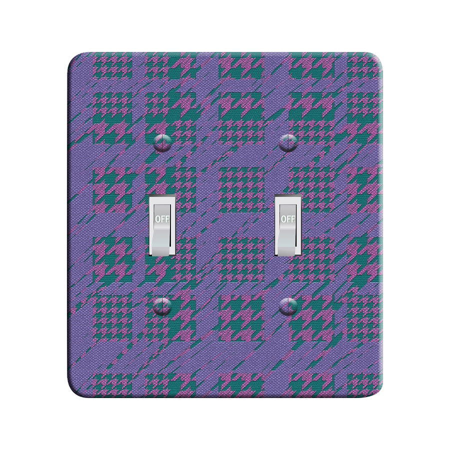Embossi Printed Monet Houndstooth - Light Switch / Outlet Cover Custom Plate Choose Style, 42 DB