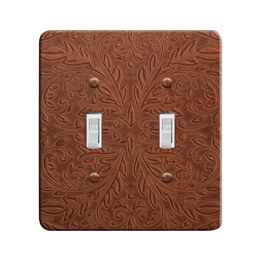Embossi Printed Western Saddle - Light Switch / Outlet Cover Custom Plate Choose Style, 48 L