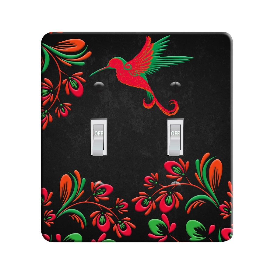 Embossi Printed Evening Hummingbird Light Switch / Outlet Cover Custom Plate Choose Style, 490