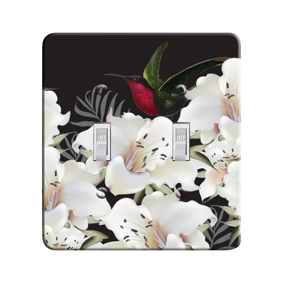 Embossi Printed Evening Hummingbird Light Switch / Outlet Cover Custom Plate Choose Style, 491