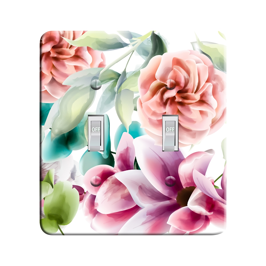 Embossi Printed Flower Bouquet Light Switch / Outlet Cover Custom Plate Choose Style, 495