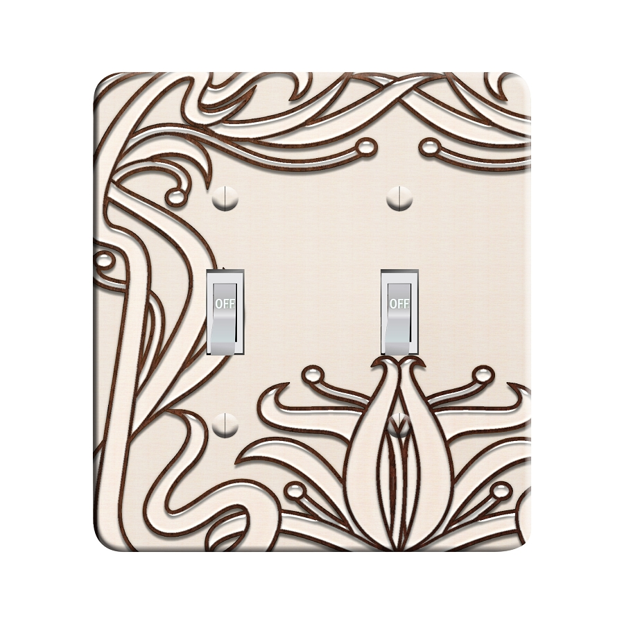 Embossi Printed Maxi Metal Elegant Art Nouveau Plate - Light Switch / Outlet Cover Custom Plate Choose Style, 0522 L