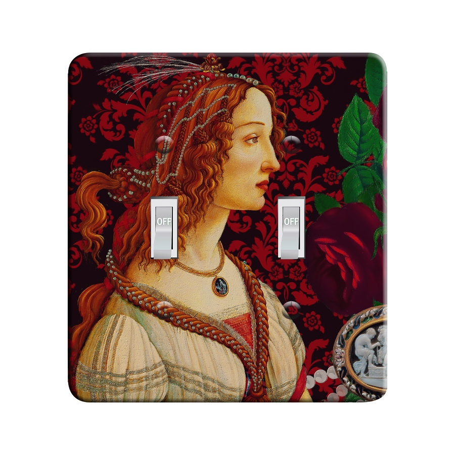 Embossi Printed Botticelli Ideal Woman  Light Switch / Outlet Cover Custom Plate Choose Style, 701A