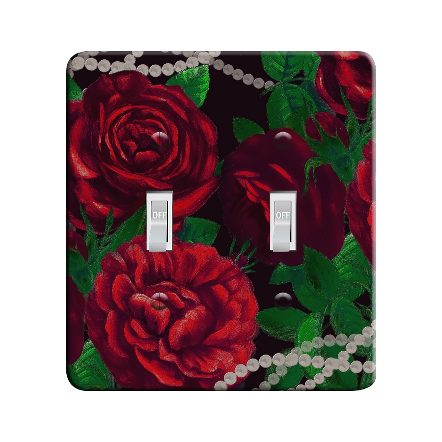 Embossi Printed Botticelli Roses  Light Switch / Outlet Cover Custom Plate Choose Style, 701B