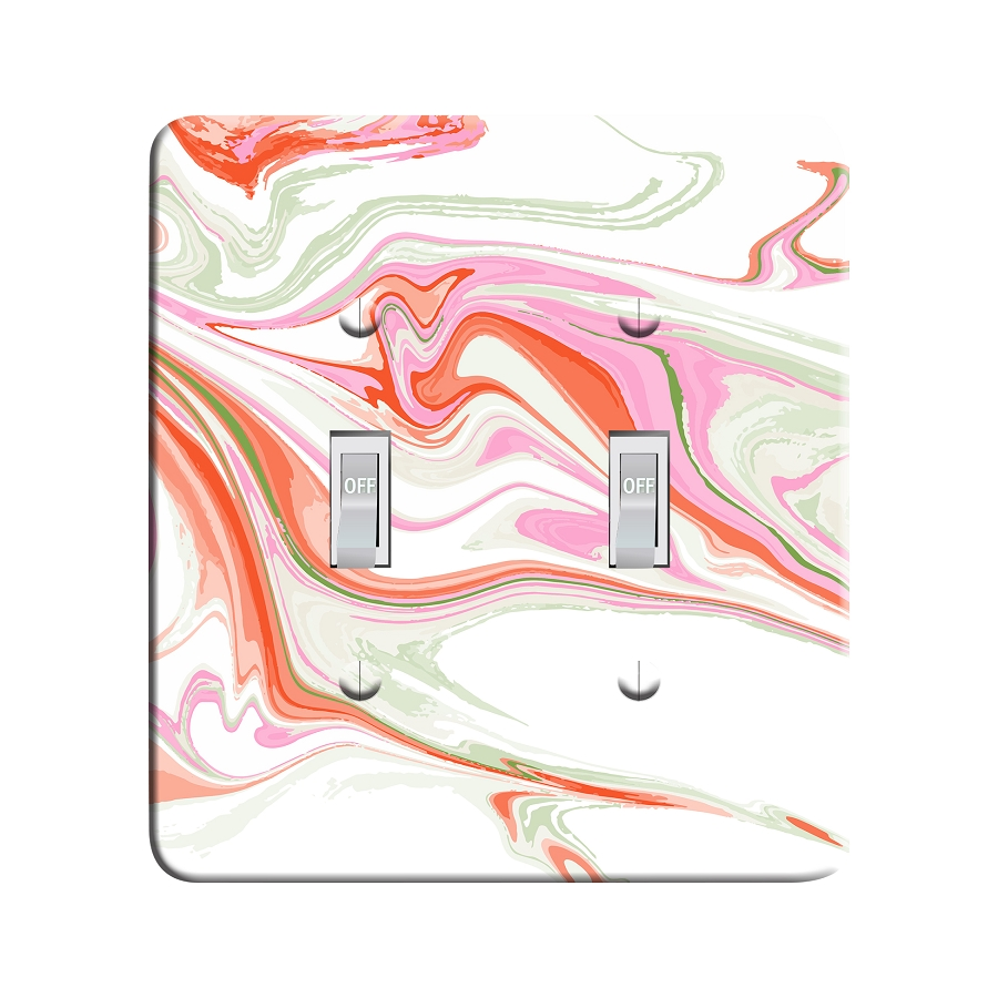 Embossi Printed Echinacea Acid Marble Light Switch / Outlet Cover Custom Plate Choose Style, 702B