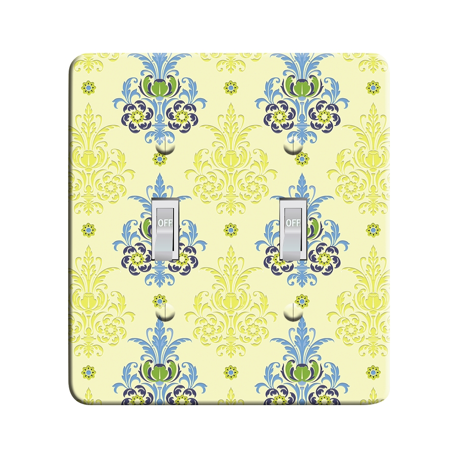 Embossi Printed  Van Gogh Iris Damask - Light Switch / Outlet Cover Custom Plate Choose Style, 77 DA