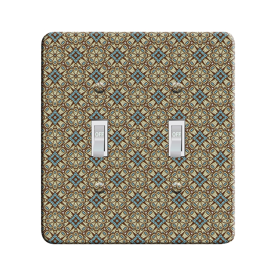 Embossi Printed  Abandoned Geometric Pattern - Light Switch / Outlet Cover Custom Plate Choose Style, 81 DB