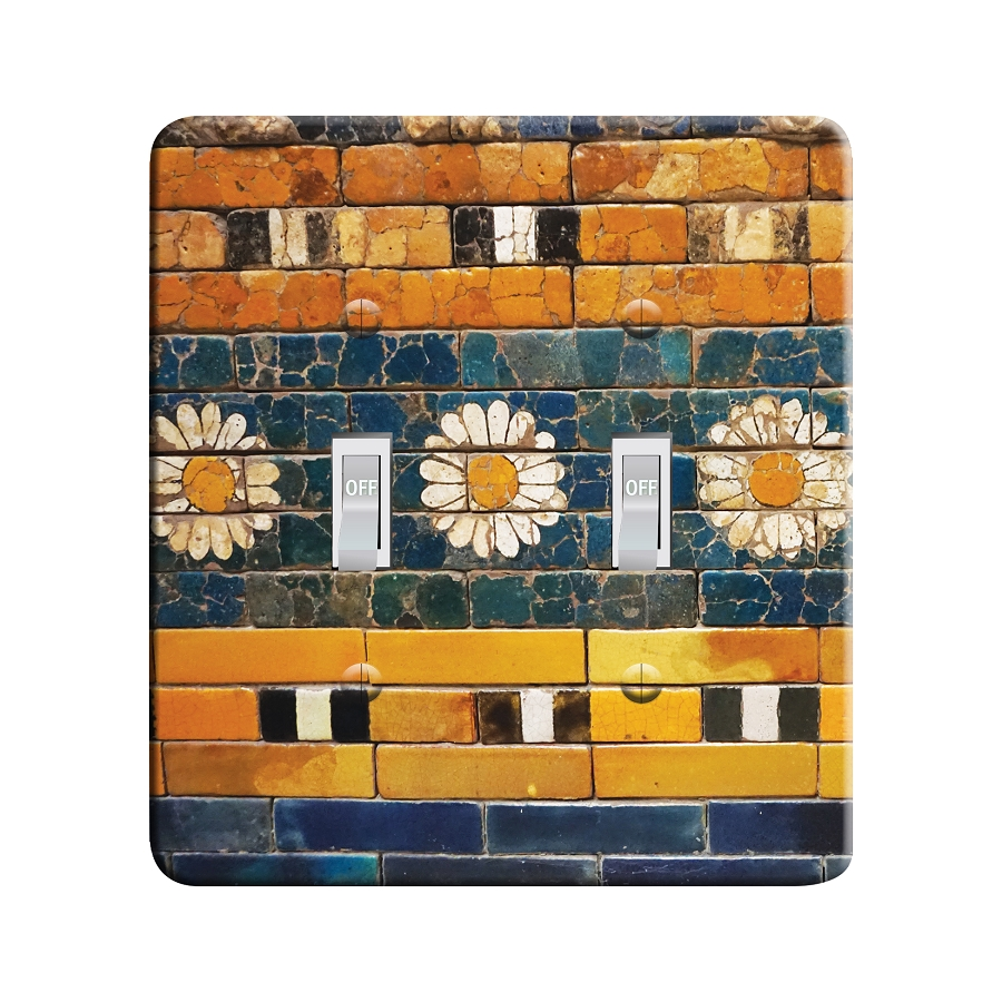 Embossi Printed  Ancient Persian Tiles - Light Switch / Outlet Cover Custom Plate Choose Style, 82 D