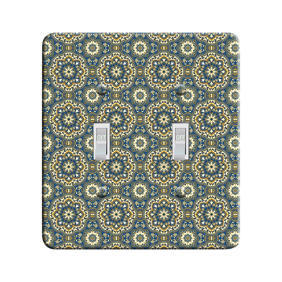 Embossi Printed  Persian Color Mandala 1 - Light Switch / Outlet Cover Custom Plate Choose Style, 82 DA