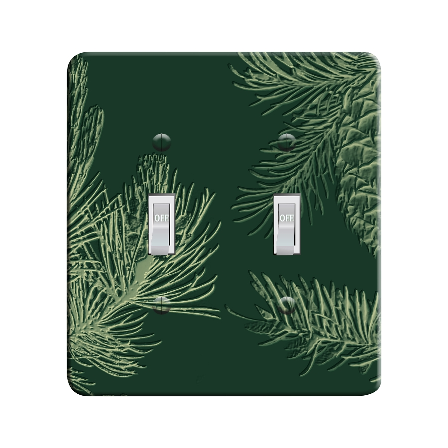 Embossi Printed  Pine Cone - Light Switch / Outlet Cover Custom Plate Choose Style, 95 DB