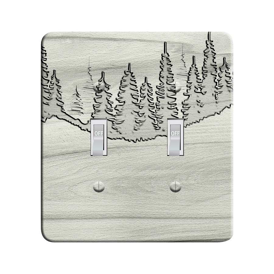 Embossi Printed  Pine Routed Wood Look - Light Switch / Outlet Cover Custom Plate Choose Style, 95 DC