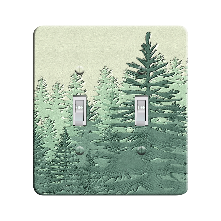 Embossi Printed  New Pine Look - Light Switch / Outlet Cover Custom Plate Choose Style, 95 DD