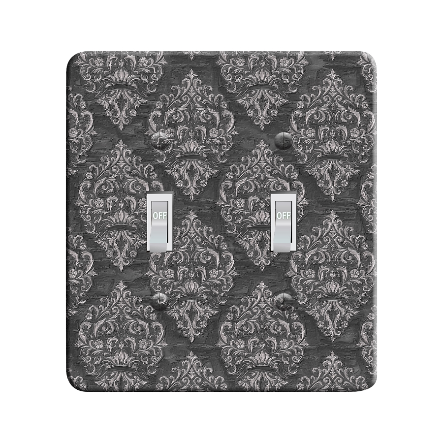 Embossi Printed  Monet Mum Damask - Light Switch / Outlet Cover Custom Plate Choose Style, 97 LB