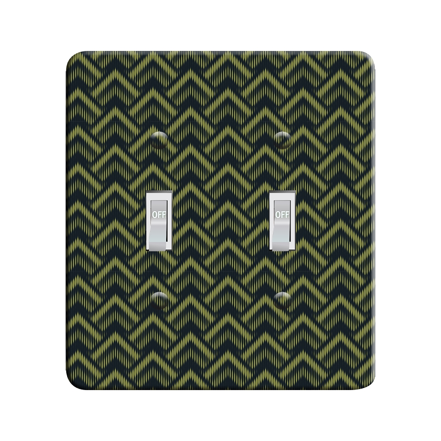 Embossi Printed  Monet Antibe Bargello - Light Switch / Outlet Cover Custom Plate Choose Style, 98 LA