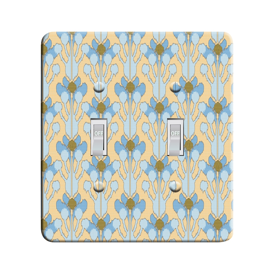 Embossi Printed  Monet Antibe Ikat - Light Switch / Outlet Cover Custom Plate Choose Style, 98 LB