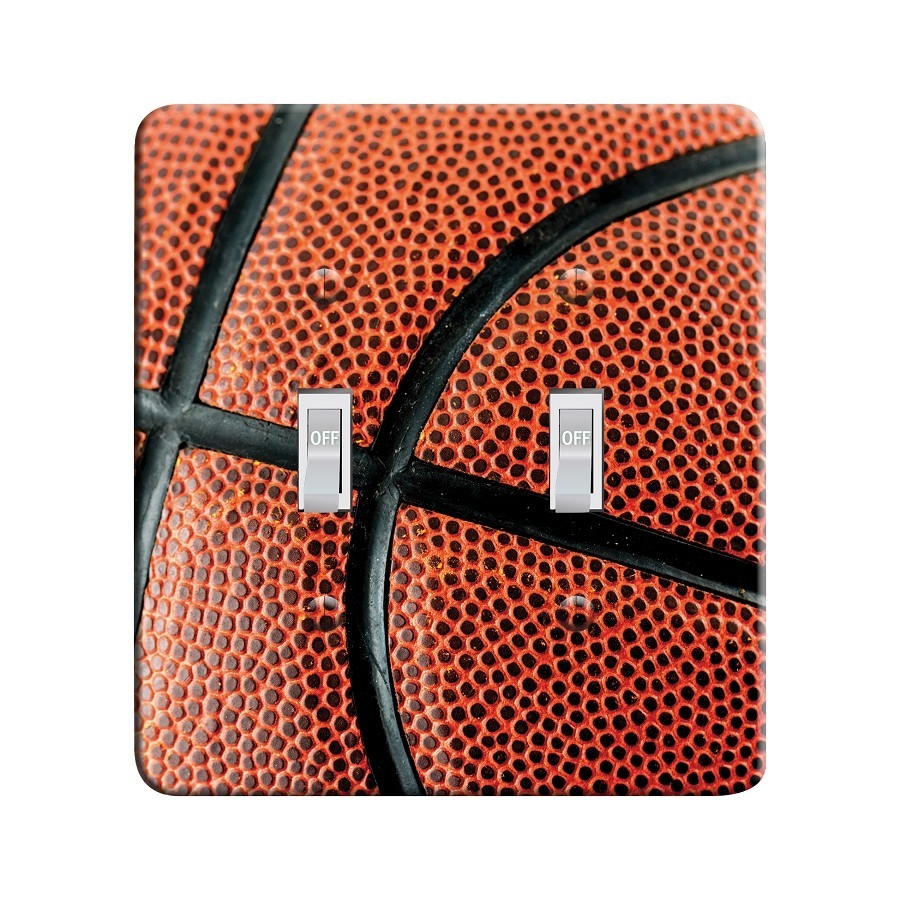 Embossi Printed Maxi Metal Basketball Plate - Light Switch / Outlet Cover Custom Plate Choose Style, 0037 L