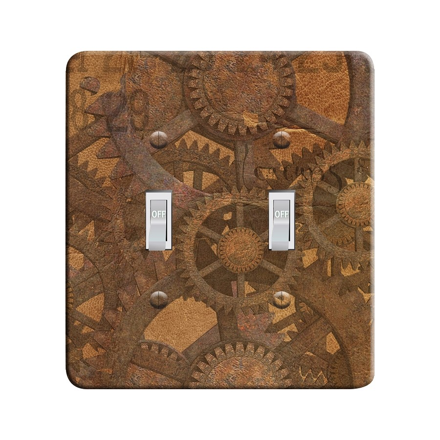 Embossi Printed Steampunk Gears - Light Switch / Outlet Cover Custom Plate Choose Style, 10 D