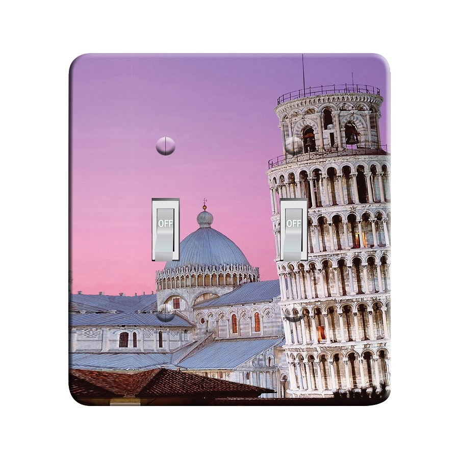 Embossi Printed  Pisa Leaning Tower - Light Switch / Outlet Cover Custom Plate Choose Style, 109 D