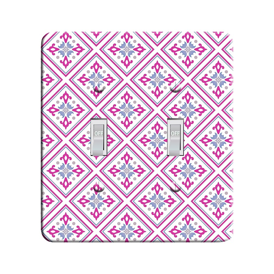 Embossi Printed  Pisa Tile - Light Switch / Outlet Cover Custom Plate Choose Style, 109 DB