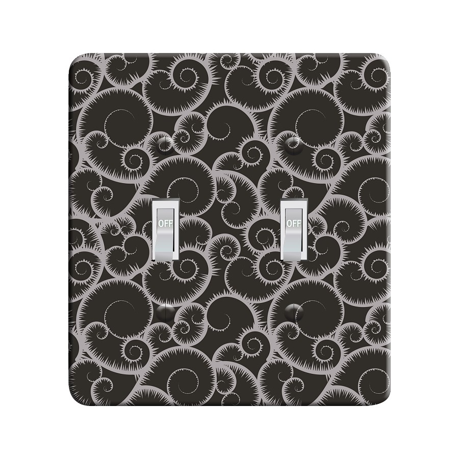 Embossi Printed  Bierstadt Sierra Shell Gang - Light Switch / Outlet Cover Custom Plate Choose Style, 115 DC
