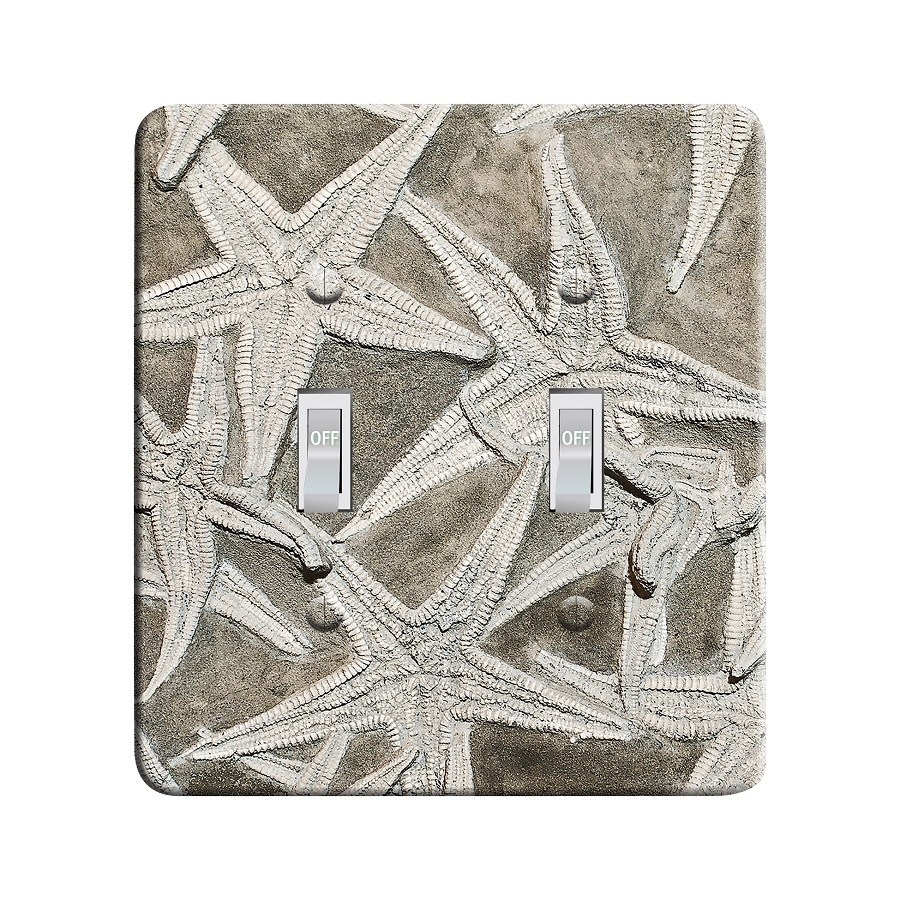 Embossi Printed Fossil Starfish- Light Switch / Outlet Cover Custom Plate Choose Style, 02 D