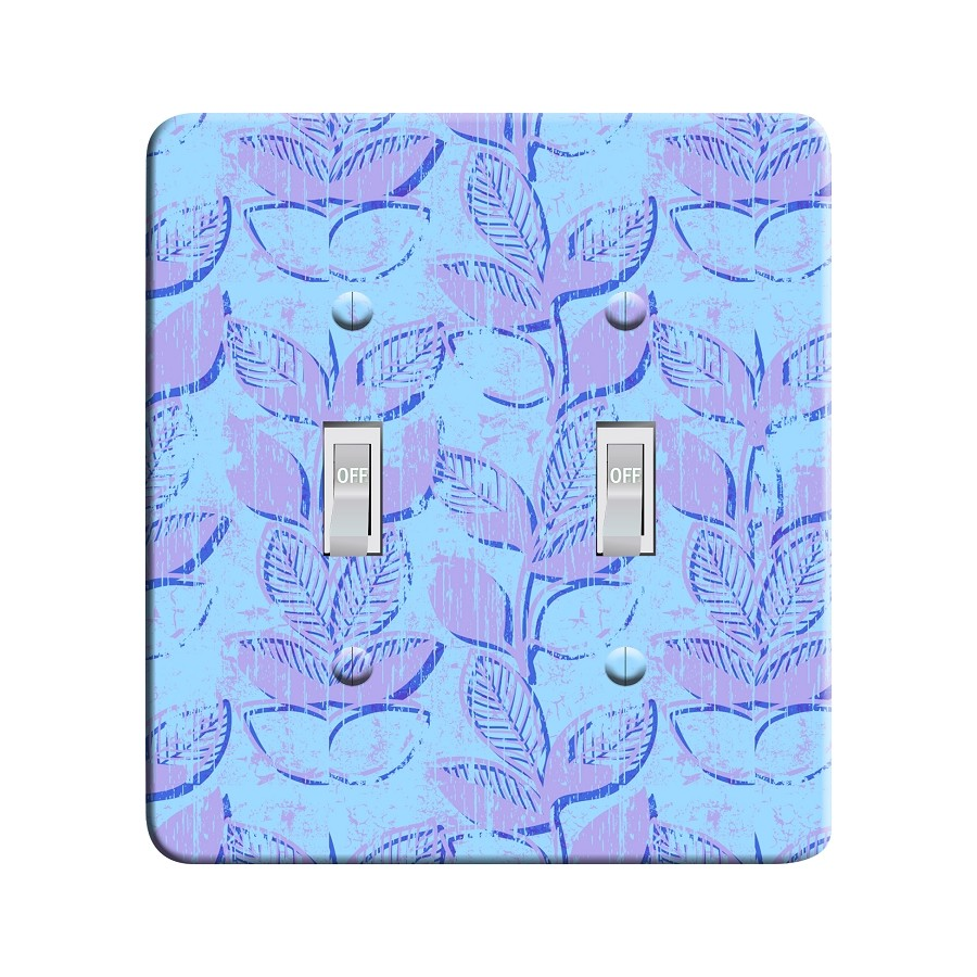 Embossi Printed Maxi Metal Monet Leaves Plate - Light Switch / Outlet Cover Custom Plate Choose Style, 0021 DC