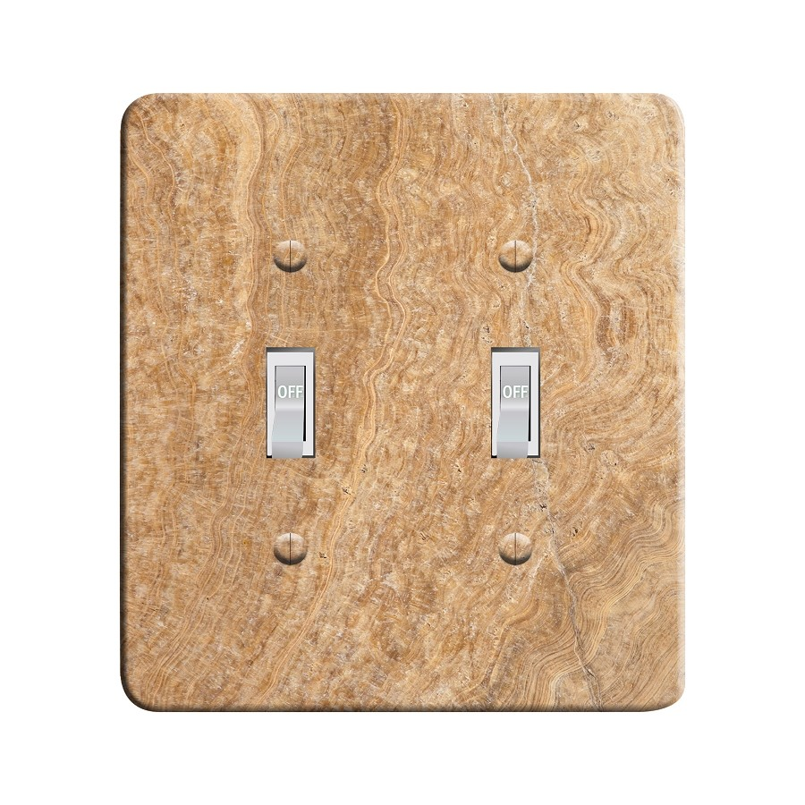 Embossi Printed Travertine - Light Switch / Outlet Cover Custom Plate Choose Style, 27 D