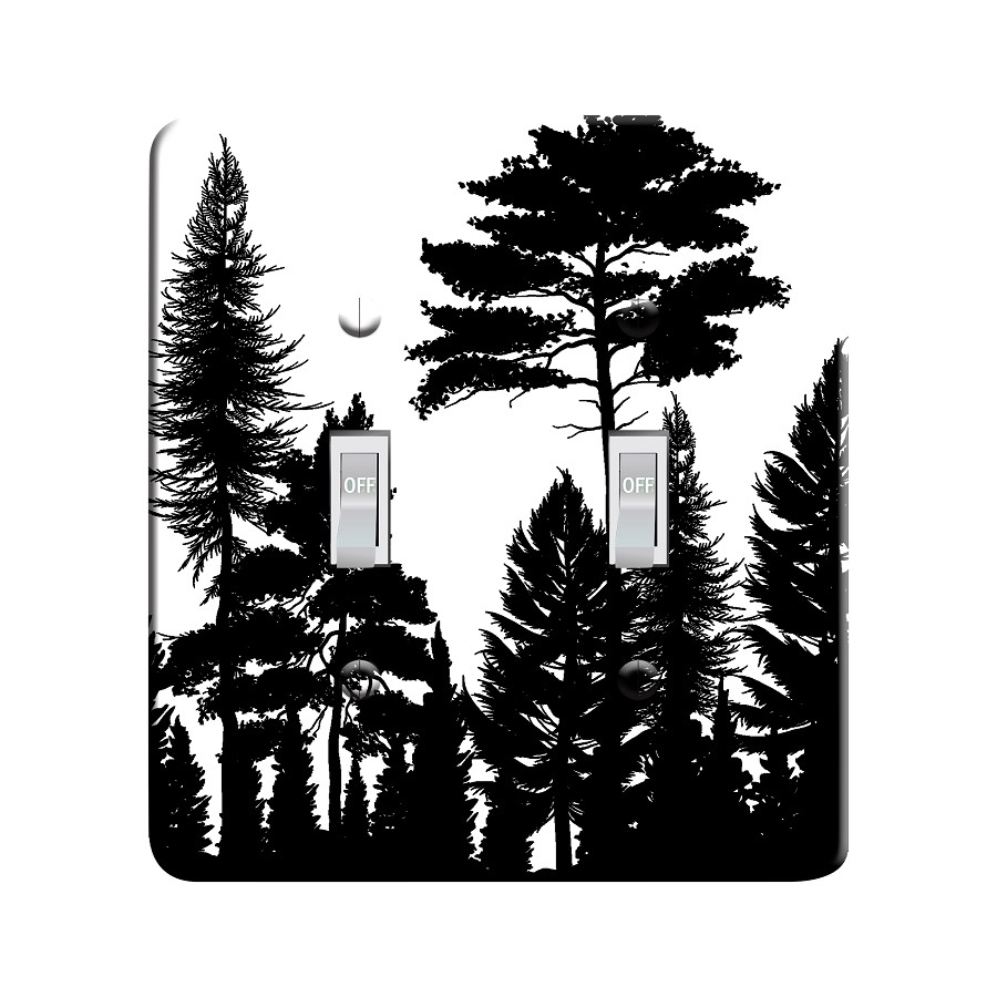 Embossi Printed Maxi Metal Tree Silhouette Plate - Light Switch / Outlet Cover Custom Plate Choose Style, 0336 L