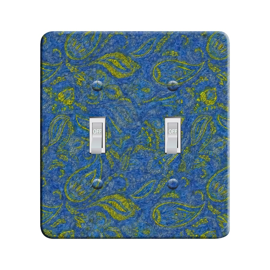 Embossi Printed Starry Paisley - Light Switch / Outlet Cover Custom Plate Choose Style, 41 DB