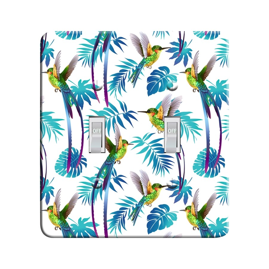 Embossi Printed Tropic Hummingbird Light Switch / Outlet Cover Custom Plate Choose Style, 488