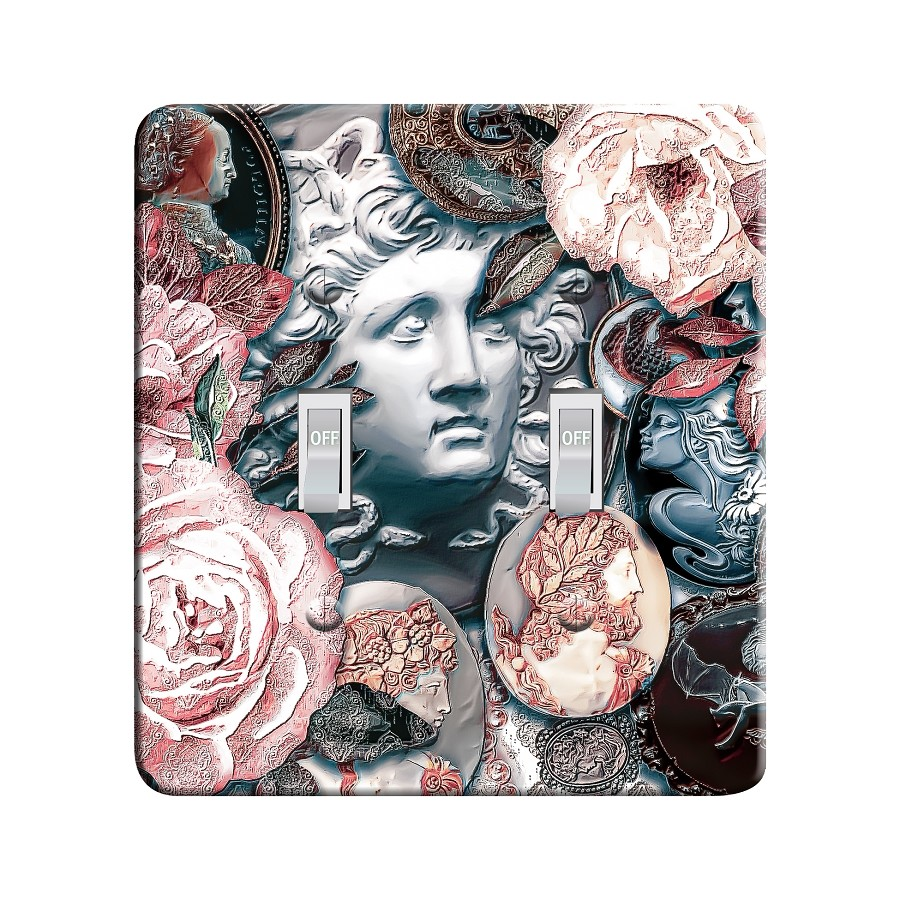 Embossi Printed Cameo Collection Light Switch / Outlet Cover Custom Plate Choose Style, 501